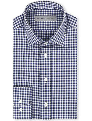ETRO Gingham cotton shirt