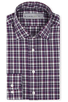 ETRO Check-print cotton shirt