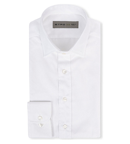 ETRO Oxford cotton shirt (White