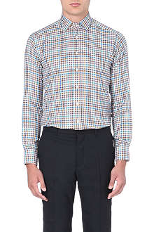 ETRO Houndstooth-check slim-fit shirt