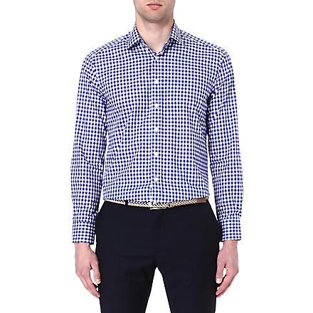 ETRO Gingham cotton shirt (Blue