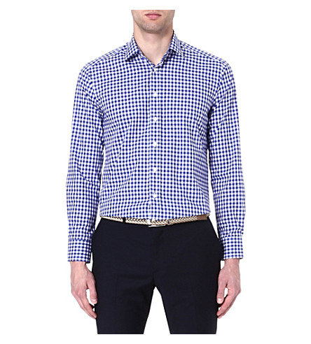 ETRO Gingham cotton shirt (Blue