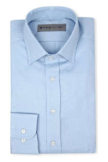 ETRO Jacquard regular-fit single-cuff shirt