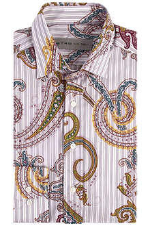 ETRO Paisley and stripe print shirt