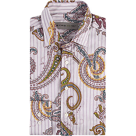 ETRO Paisley and stripe print shirt (Purple