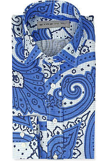 ETRO Paisley-print slim-fit single-cuff shirt