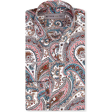 ETRO Paisley regular-fit shirt (Blue