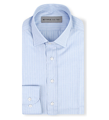 ETRO Striped regular-fit shirt (Blue