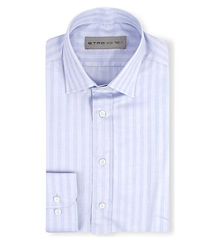 ETRO Striped cotton shirt (Blue