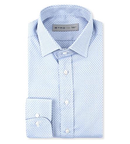 ETRO Woven single-cuff shirt (Blue