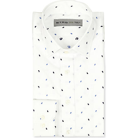 ETRO Paisley regular-fit single-cuff shirt (White