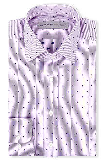 ETRO Striped regular-fit single-cuff shirt