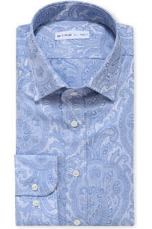 ETRO Paisley-print slim-fit shirt