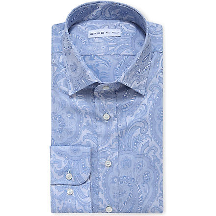 ETRO Paisley-print slim-fit shirt (White