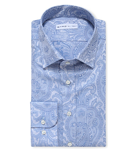 ETRO Paisley-patterned slim-fit shirt (White