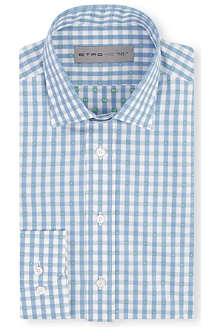 ETRO Checked regular-fit shirt
