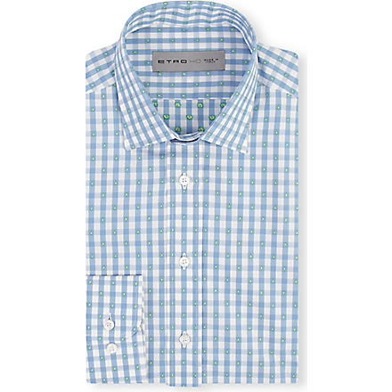 ETRO Checked regular-fit shirt (Blue