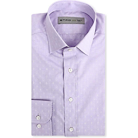 ETRO Embroidered emblem shirt (Purple