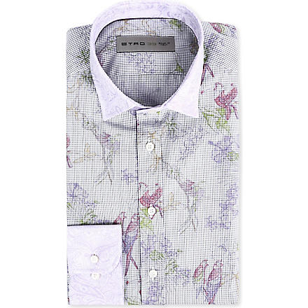 ETRO Bird print regular-fit shirt (Blue