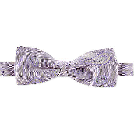ETRO Silk bow tie (Purple