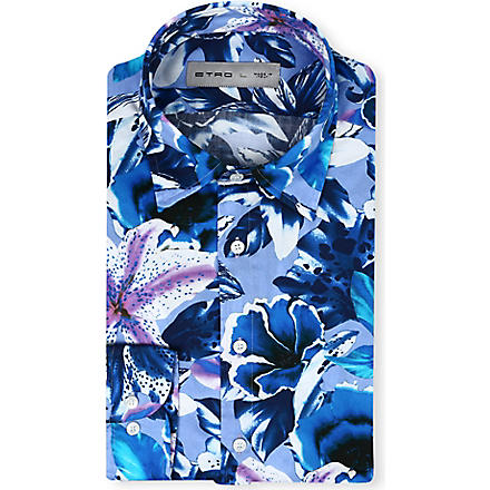 ETRO Botanical print shirt (Blue
