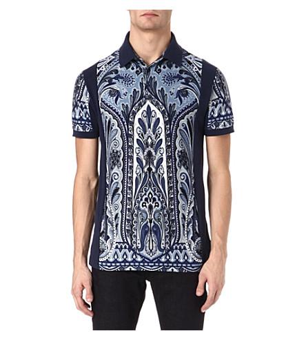 ETRO Paisley polo shirt (Blue