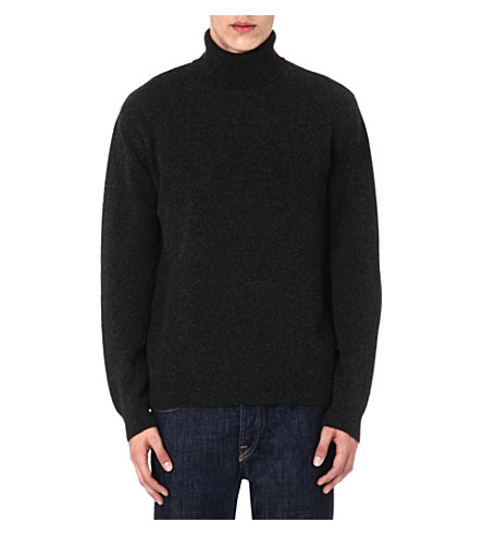 ETRO Cashmere roll-neck jumper (Charcoal