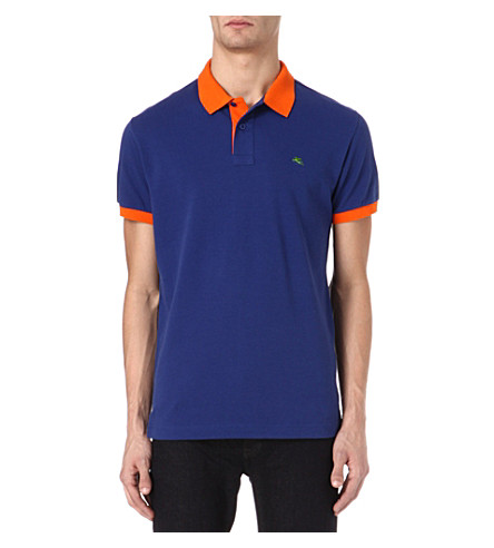 ETRO Colourblocked polo shirt (Blue