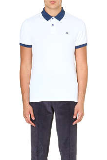 ETRO Colour-blocked cotton-piqué polo shirt