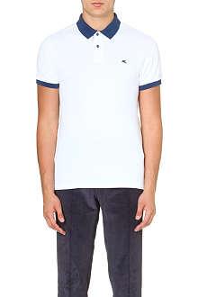 ETRO Colour-blocked cotton-piqué polo shirt