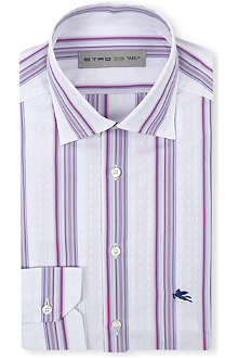 ETRO Purple stripe shirt
