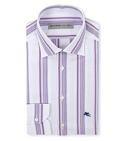 ETRO Purple stripe shirt (Purple