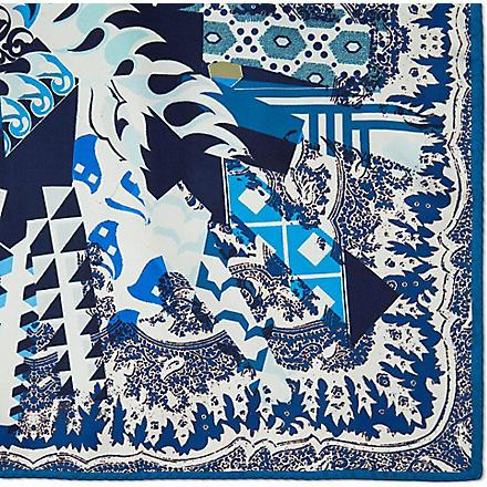 ETRO Paisley silk pocket square (Blue
