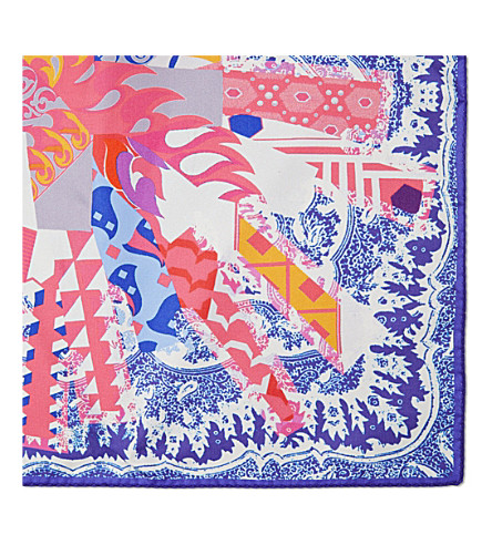 ETRO Paisley silk pocket square (Purple