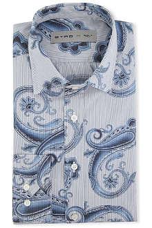 ETRO Fine-striped regular-fit single-cuff shirt
