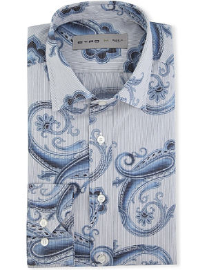 ETRO Fine-striped regular-fit single-cuff shirt