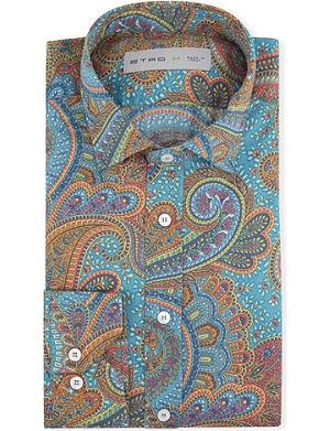 ETRO Paisley-print regular-fit single-cuff shirt