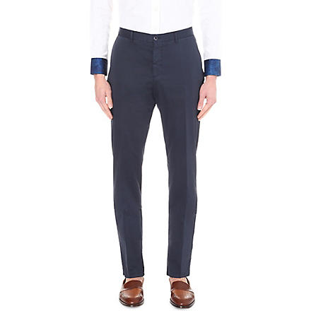 Etro: Cuba slim-fit tapered cotton chinos - Hiphunters Shop