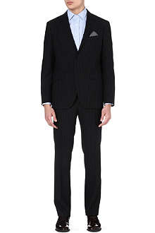ETRO Single-breasted striped wool suit