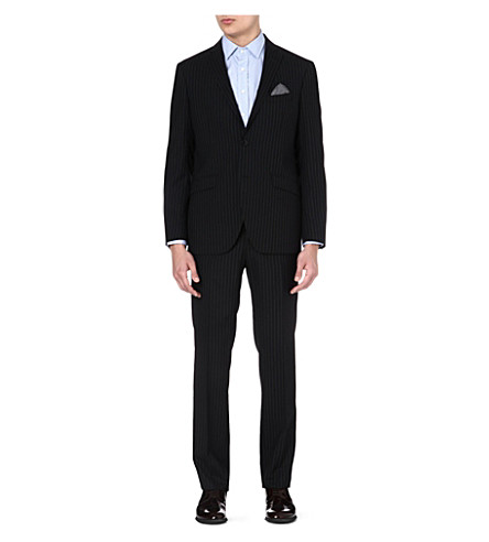 ETRO Single-breasted striped wool suit (Multi