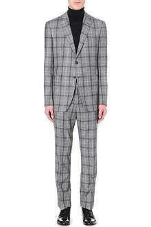 ETRO Checked wool-flannel suit