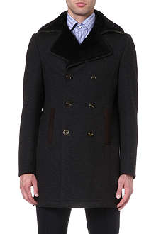 ETRO Shearling-collar coat