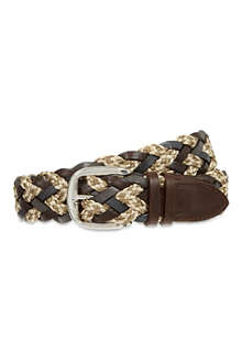 ETRO Leather braided belt