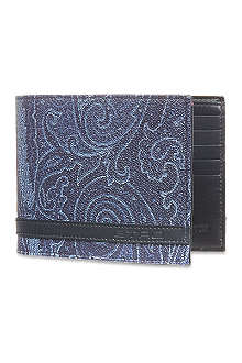 ETRO Printed leather wallet