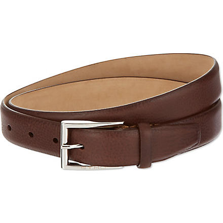 ETRO Smooth leather belt (Choc