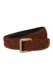ETRO Reversible woven suede belt