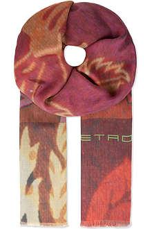 ETRO Cashmere blend floral scarf