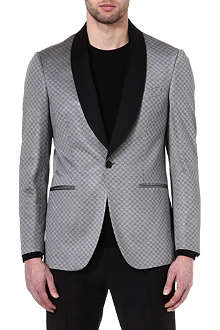 ETRO Patterned contrast-lapel jacket