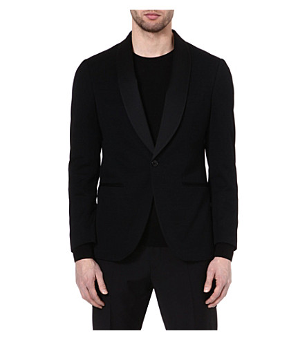 ETRO Contrast lapel jacket (Black