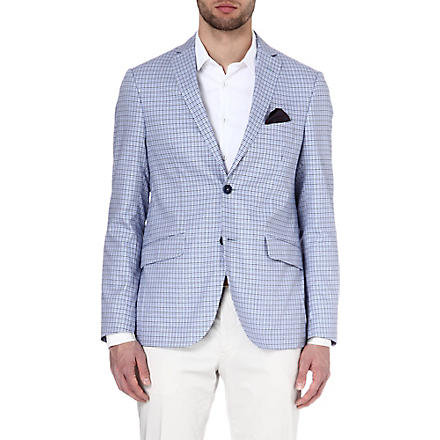 ETRO Dogtooth cotton jacket (Blue